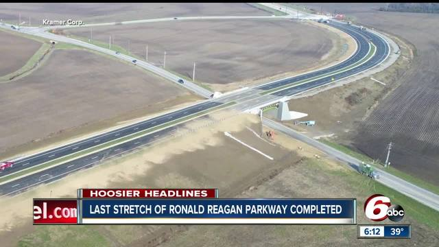 Ronald Reagan Parkway opens in Hendricks County