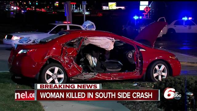 Person killed in crash on Indianapolis- south side near Stop 11 Road
