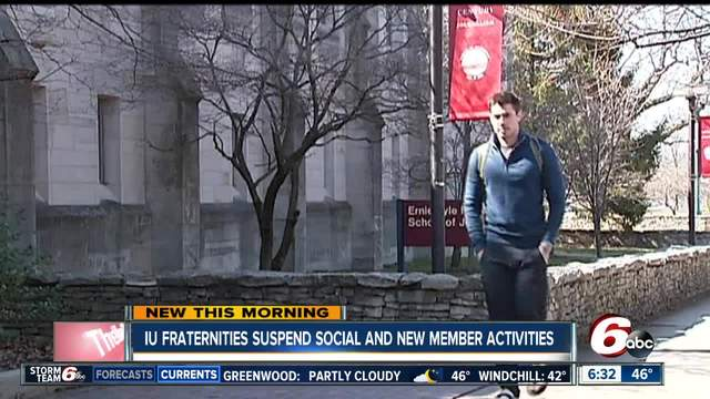 Indiana University fraternity council suspends Greek life events