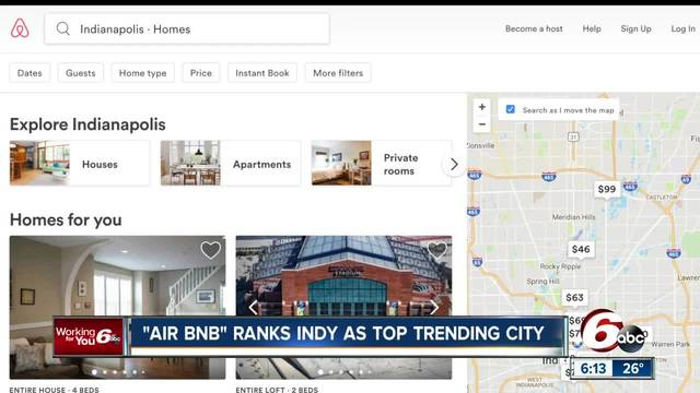 Indianapolis is one of the top 2018 Airbnb cities