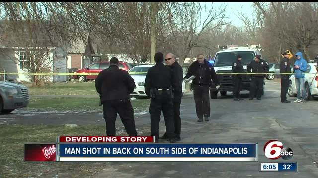 Man shot in the back on Indianapolis- south side