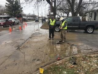 Street buckles due to water main break