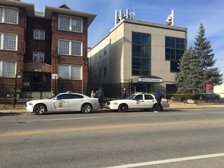 Package outside Planned Parenthood was clothes