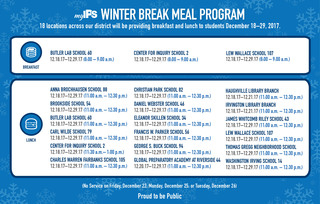 IPS to offer meals at 18 schools during break