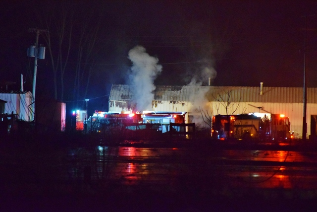 2 explosions, large fire at former RCA plant