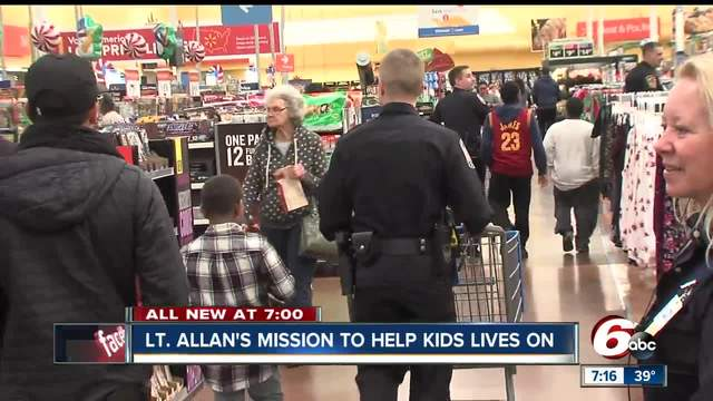 Shop with a cop event honors Lt- Aaron Allan