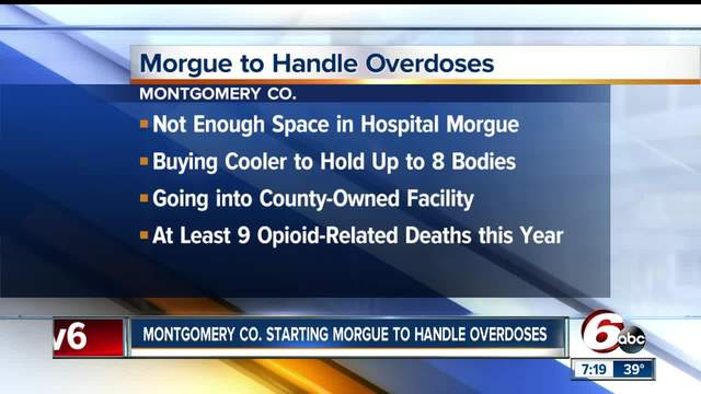 Rural county starting morgue to handle overdose deaths