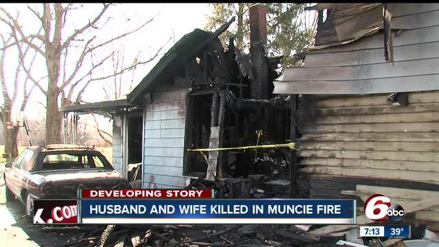 Husband and wife killed in early morning house fire in Muncie