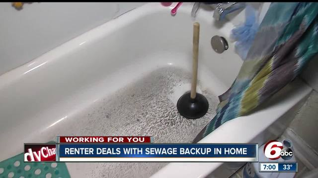 Renter dealing with sewage backup reaches out to rtv6 for for Sewage backing up into house