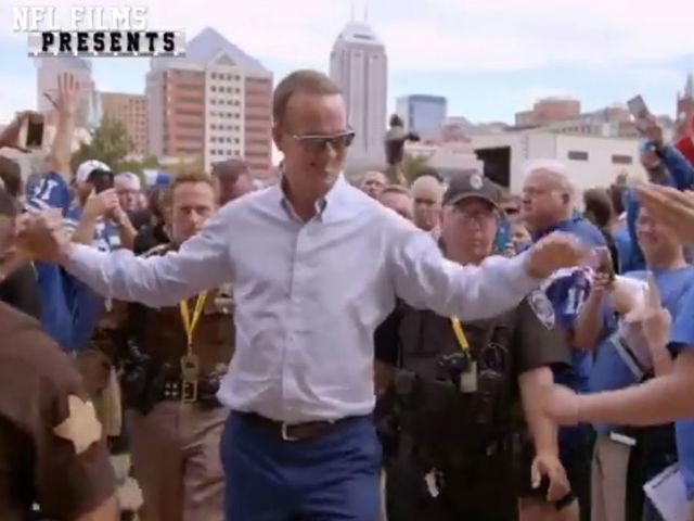 WATCH Peyton Manning surprises Colts fans outside Lucas Oil Stadium