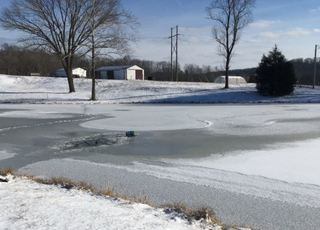 Fisherman who fell through ice on pond ID'd