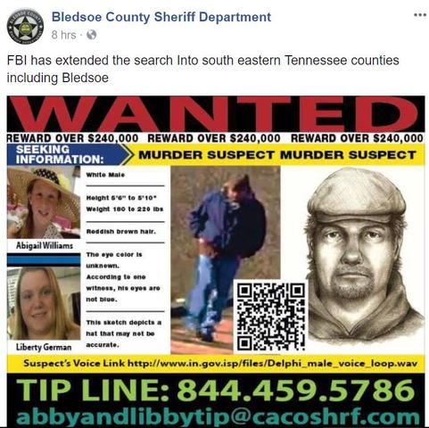 Tennessee sheriff clarifies statement about search for Delphi teens' murderer