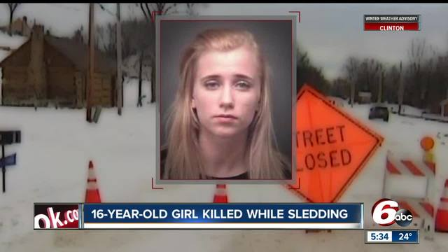 Teen killed by vehicle while sledding near Evansville