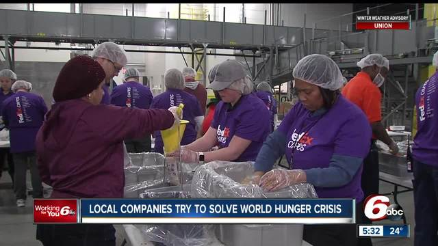 Local companies try to solve world hunger