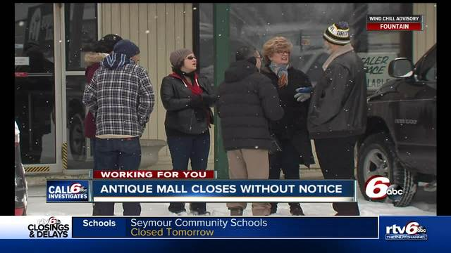Delaware Co- antique mall and storage unit closes without warning…