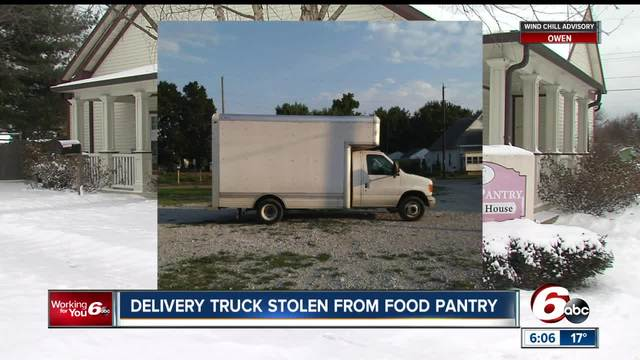Truck stolen from Indianapolis food pantry