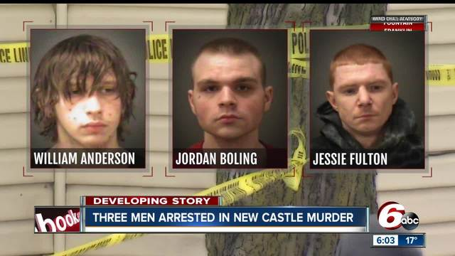 Three men arrested for murder of New Castle man found shot in garage