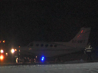 Plane lands without gear at Fishers airport