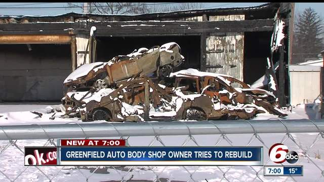 Greenfield auto body shop owner jumping hurdles to rebuild following fire