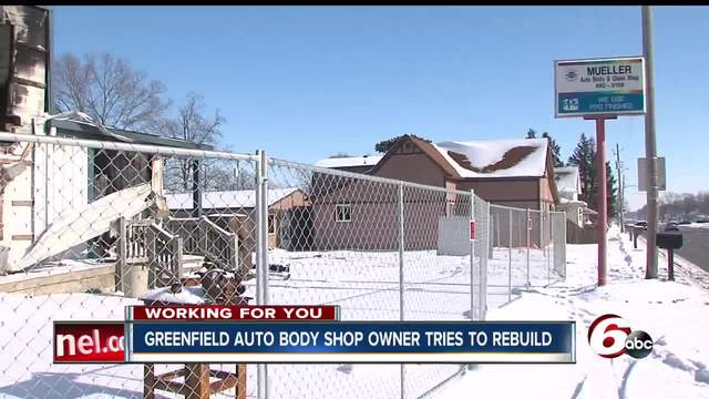 Greenfield Auto Body shop facing huge setback after fire last November