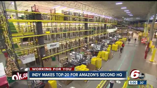 Encouraging economic news as Indianapolis makes top 20 for Amazon-s…