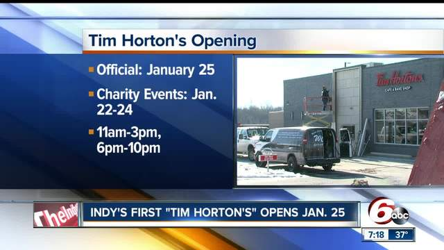 Tim Horton-s will open its first restaurant in Indianapolis on Jan- 25