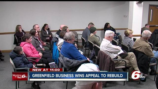 Greenfield business wins rezoning appeal to rebuild after fire