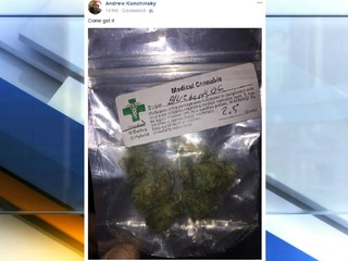 """Come get it"" says FB post with picture of pot"