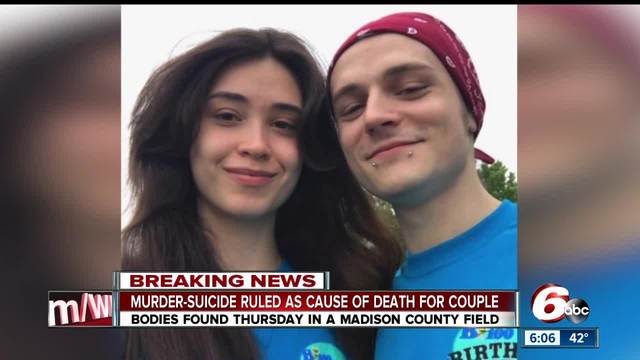 Deaths of couple found dead- locked in embrace in Madison County field…