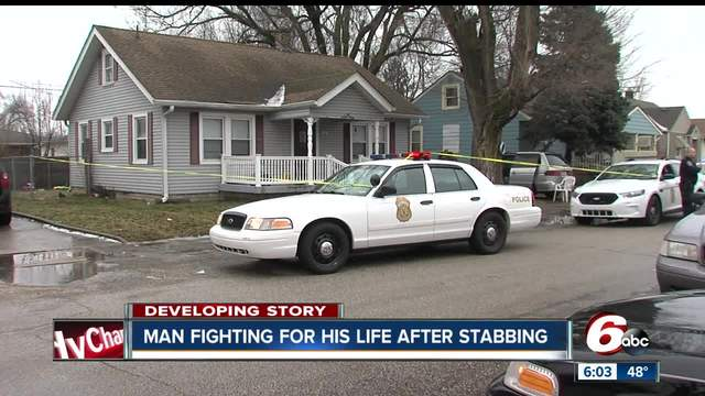 Man critical after stabbing on Indy-s west side