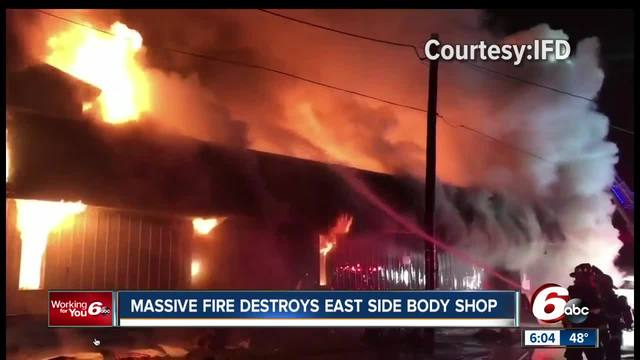 Fire causes -750K damage at Indy auto body shop