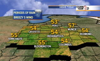 Windy with a few afternoon showers.