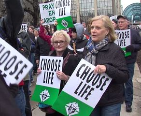 Hundreds 'March for Life' in downtown Indy