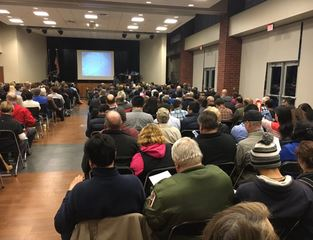 Hundreds gather to debate proposed Carmel mosque