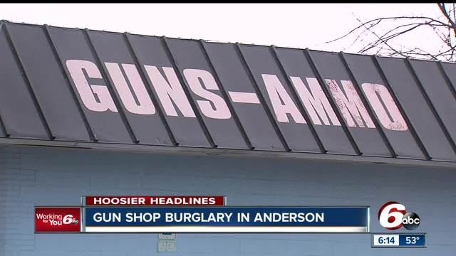 Multiple firearms stolen from Anderson gun shop after suspects drive…