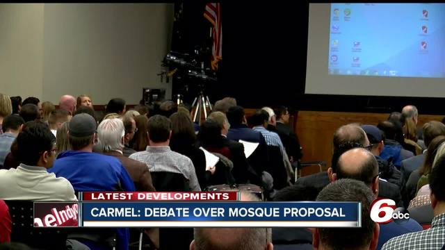 Hundreds gather to debate proposed Carmel mosque- second hearing…