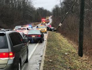 1 killed after car hits pole on Indy's SE side