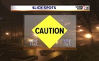 Caution: Slick spots. Temps below freezing.