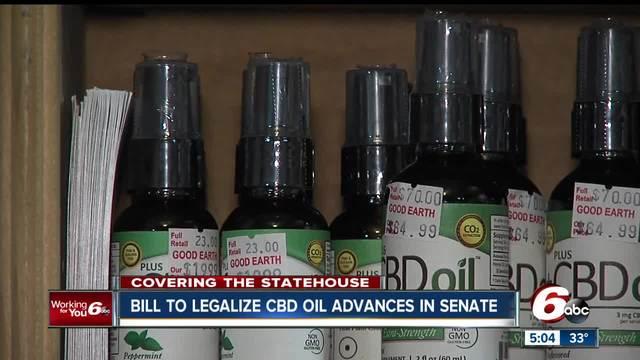Bill to legalize CBD oil advances in Indiana Senate