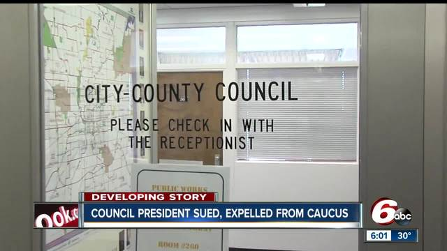 President of the city-county council is being sued over the firings of…