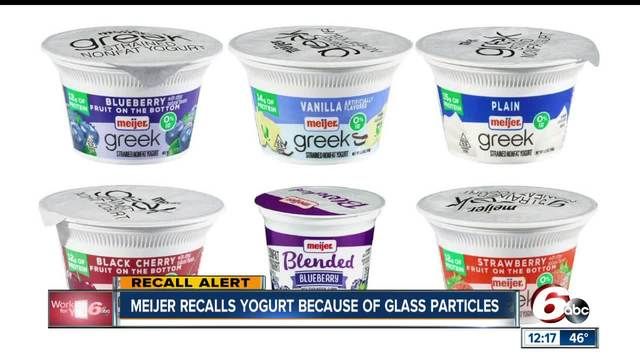 Meijer recalls Greek, low-fat yogurt after customer finds glass pieces