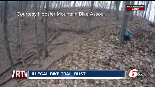 Two arrested for creating illegal mountain bike trail at Indy state park