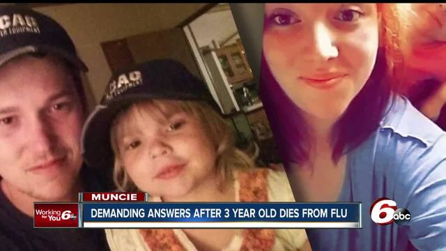 Muncie family of a 3-year-old girl who died after being treated for the…