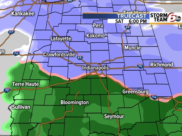 TIMELINE: Snow & rain timing across central Ind.