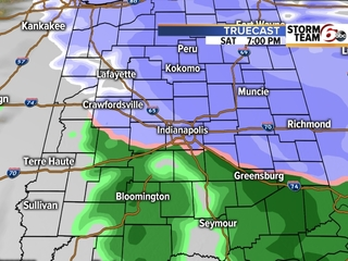 TIMELINE: Snow returns to central Indiana