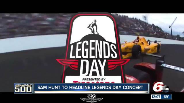 Country artist Sam Hunt headlining IMS Legends Day concert