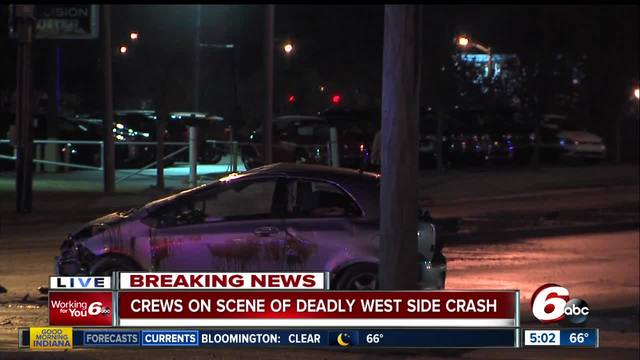 Man killed in rollover crash on Indy-s west side