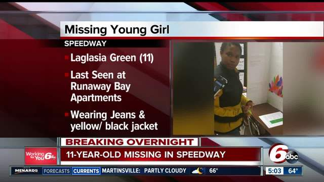 Police searching for missing 11-year-old Speedway girl- last seen Monday