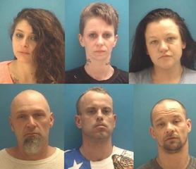 PICS: 6 arrested for drugs, counterfeit money