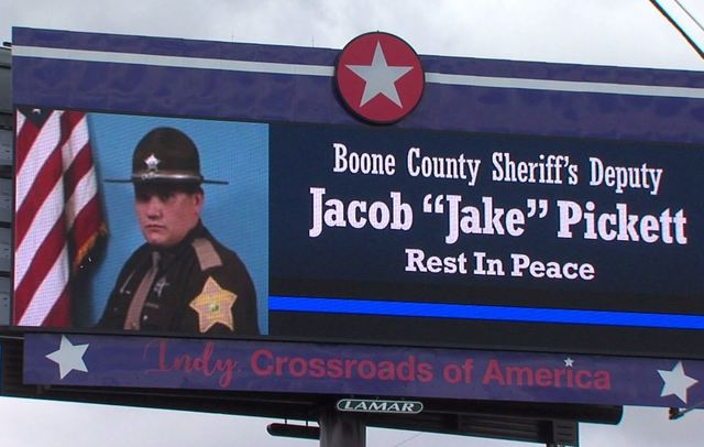 Officers from across IN honor slain Deputy Pickett